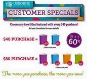 Customer Specials!