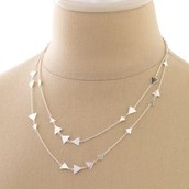SOLD! Alexia Fringe Statement Necklace- Silver $25