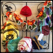 Hats and Scarves by Rozanne + Ruby: $12-$18