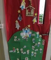 Christmas door! We all worked so hard.