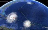 This is where the hurricane is.