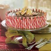 Chocolate Chunk Candy Cane Cheesecake