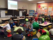 Flexible Seating for Reading Practice in Ms. Floyd's Class!