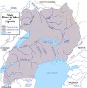 Uganda Physical Features Map