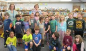 Jill with the first graders