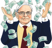 Warren Buffett makes it rain!