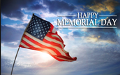 May 30th No School for Memorial Day Observance