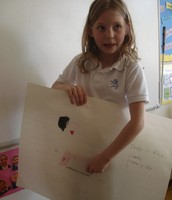 Some brave children chose to design art projects independently!