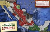 Mexican revolution map