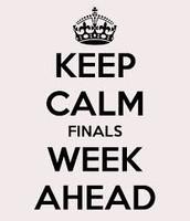 Finals week schedule!