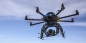This is A Typical Drone You Would See Filming A Movie For Highest Hights.