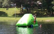 This is One of the Rafts in the Lake