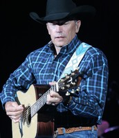 George Strait Playing Guitar