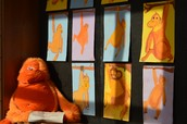 5th Grade Chalk Orangutans