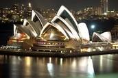 Sydney Opera House at night time