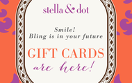 SHARE THE LOVE AND STYLE WITH EVERYONE ON YOUR GIFT LIST WITH THE STELLA & DOT E-GIFT CARD