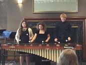Marimba Trio: Gary Rudolph, Sarah Mason and McKayla Dinwiddie