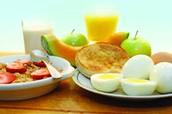 Healthy Foods at breakfast