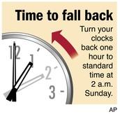 """""""FALL BACK"""" November 3rd at 2 a.m."""