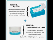 Multi-function eye cream and eye cloths