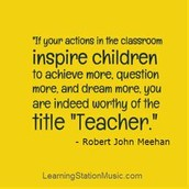 Teachers are special!