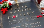 Elvis gravestone.