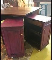Bordeaux Chalk Paint Bar Cart - $125