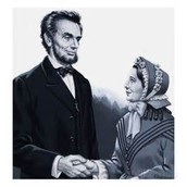 President Lincoln meeting Harriet Beecher Stowe