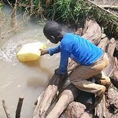 Kid drinking dirty water