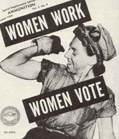 Women fighting for voting rights