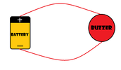 Complete circuit for a buzzer