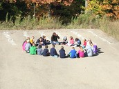 Ms. Micklo's class outdoor learning.