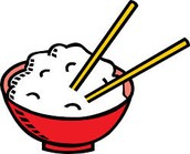 Don't stick chopsticks into your food or spear your food with the chopsticks.