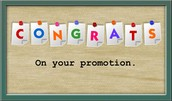 Congratulations on your Promotion to Executive Consultant!