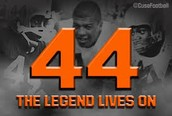 The number of Jim Brown, Ernie Davis and Floyd Little