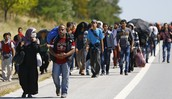 Refugees in Turkey on their way to the Greek Border