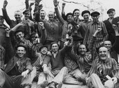 Pictures of Jewish Germans being freed from labor camps