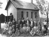 A Revolutionary War School With it's Students and Teacher