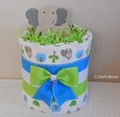 Adorable Mini Diaper Cakes