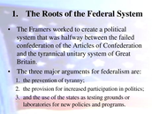 the root of federal system