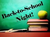 Back to  School Night - Thursday, September 3rd