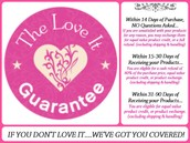 14 Day Love it Guarantee!!