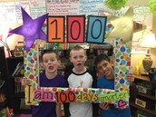 Graham, Jackson, and Chris pose for a 100th Day of School Picture!