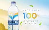 Nestle ReSource water is made from 100% recycled plastic.