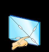 Oberflächen-kapazitive Touchscreens