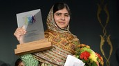 Malala wins the Nobel Peace Prize in 2014.