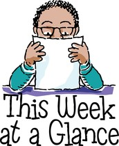 WHAT TO EXPECT THIS WEEK!