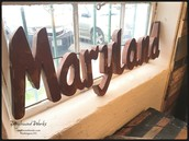 Reclaimed Tin Maryland Sign