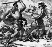 Macduff fighting Macbeth