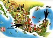 who the Maya lived near